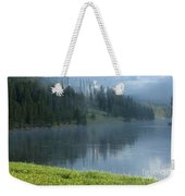 Lifting Fog On The Yellowstone Weekender Tote Bag