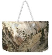 Light And Shadows In The Grand Canyon In Yellowstone Weekender Tote Bag