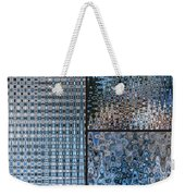 Light Blue And Brown Textural Abstract Weekender Tote Bag