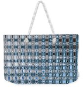 Light Blue And Gray Abstract Weekender Tote Bag