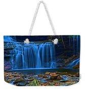 Light Blue Falls Weekender Tote Bag