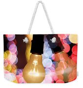 Light Bulb And Bokeh Weekender Tote Bag