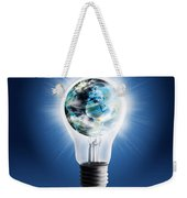 Light Bulb With Globe Weekender Tote Bag