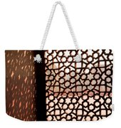 Light Coming Through The Stone Lattice At Humayun Tomb Weekender Tote Bag