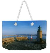 Light House At A Harbor, County Dublin Weekender Tote Bag