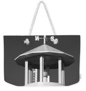 Light House On Coney Island In Black And White  Weekender Tote Bag
