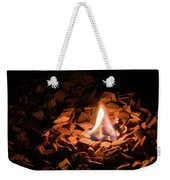 Light Of Fire Creates Coziness ... Weekender Tote Bag
