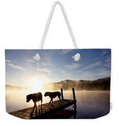 Light Of My Life Boxer Dogs On Dock Weekender Tote Bag