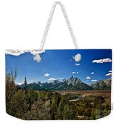 Light Rays On The Grand Tetons Weekender Tote Bag