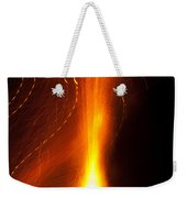 Light Waves Dancing Around The Flames Of A Fire Cracker Weekender Tote Bag