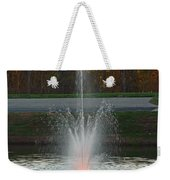 Lighted Fountain Weekender Tote Bag