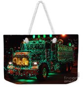 Lighted Green Dumptruck Weekender Tote Bag