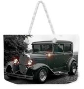 Lighted Old Black And White Weekender Tote Bag