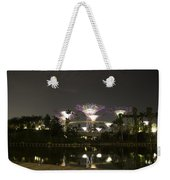 Lighted Supertrees Of The Gardens By The Bay In Singapore Weekender Tote Bag