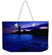 Lighthouse Beacon At Night Weekender Tote Bag