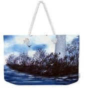 Lighthouse Blues Painterly Style Weekender Tote Bag