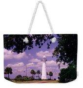 Lighthouse In Biloxi Mississippi Weekender Tote Bag