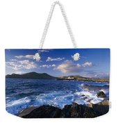 Lighthouse In The Distance, Fort Point Weekender Tote Bag