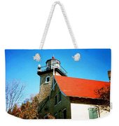 Lighthouse In The Fall Weekender Tote Bag