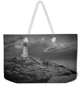 Lighthouse In The Moonlight At Peggy's Cove Nova Scotia Canada Weekender Tote Bag