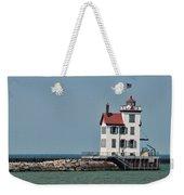 Lighthouse Ohio Weekender Tote Bag