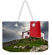 Lighthouse On Hill Weekender Tote Bag