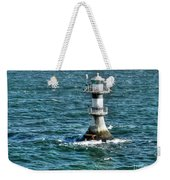 Lighthouse On The Blue Sea Weekender Tote Bag