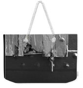 Lighthouse Shutter Black And White Weekender Tote Bag
