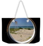 Lighthouse Window To Lake Weekender Tote Bag