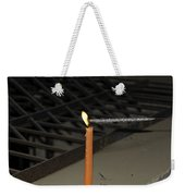 Lighting A Sparkler With An Orange Candle Weekender Tote Bag