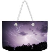 Lightning Burst Weekender Tote Bag