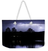 Lightning Over Coot Lake Weekender Tote Bag