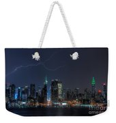 Lightning Over New York City Ix Weekender Tote Bag