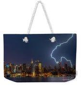 Lightning Over New York City Vii Weekender Tote Bag