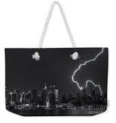 Lightning Over New York City Viii Weekender Tote Bag