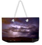 Lightning Strikes During A Thunderstorm Weekender Tote Bag