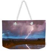 Lightning Striking Longs Peak Foothills 2 Weekender Tote Bag