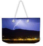Lightning Striking Over Ibm Boulder Co 1 Weekender Tote Bag