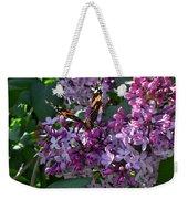 Lilac Butterfly Weekender Tote Bag