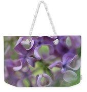 Lilac Syringa Sp Flower, Close Weekender Tote Bag
