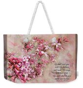 Lilacs With Verse Weekender Tote Bag