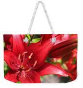 Lilies In Red Weekender Tote Bag