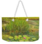 Lilies On The Pond Weekender Tote Bag
