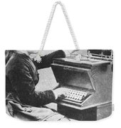 Lillian Sholes, The First Typist, 1872 Weekender Tote Bag
