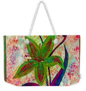 Lily Abstraction Weekender Tote Bag