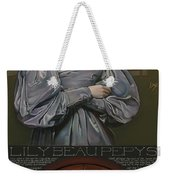 Lily Beau Pepys Weekender Tote Bag by Patrick Anthony Pierson