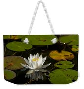 Lily On The Pond Weekender Tote Bag
