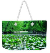 Lily Pads Along Unami Creek Weekender Tote Bag
