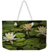 Lily Pads And Blossoms. No186 Weekender Tote Bag