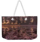 Lily Pads In The Fog Weekender Tote Bag